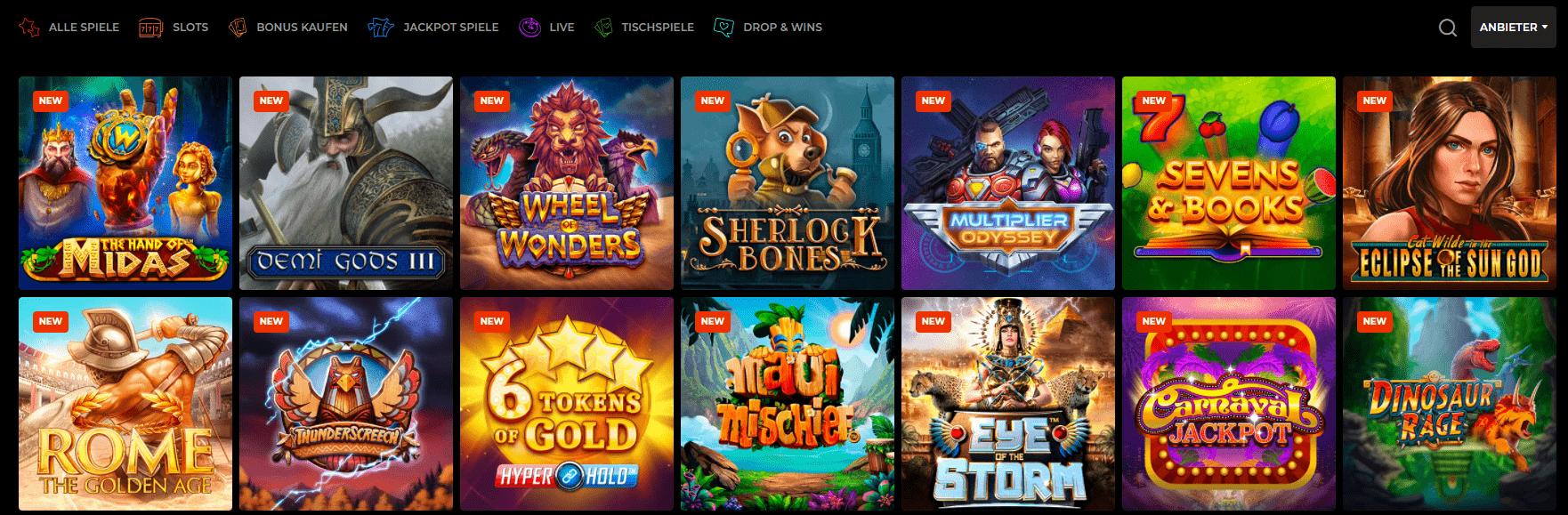 Spielerübersicht im N1 Casino